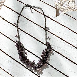 Jewelry - Trendy Amethyst Bead Bauble Adjustable Necklace